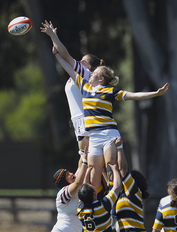 Lineout won by Stanford Lock, Katie Lampert '12